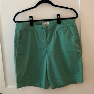 Green Bermuda shorts